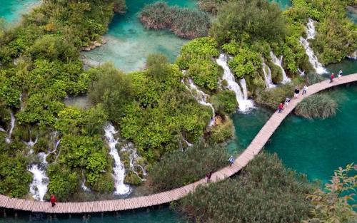 The Plitvice Lakes National Park, Croatia.